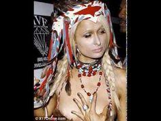 Paris Hilton Nipple Slip in Pocahontas Halloween Costume