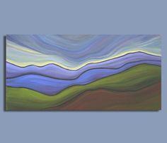 ORIGINAL painting landscape painting by SageMountainStudio on Etsy