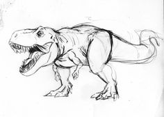 dinosaur ink illustration - Google Search