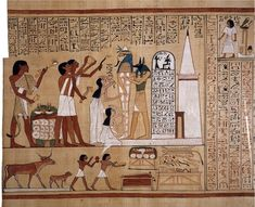 Page from the Book of the Dead of Hunefer, c. 1275 B.C.E., 19th Dynasty, 45.7 x 83.4 cm, Thebes, Egypt