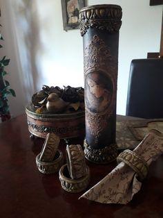 Pillar Candles, Decoupage, Candles