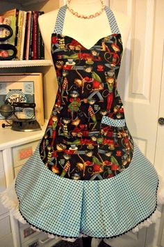 Cool Cats Cafe handmade apron by mimisneedle on Etsy