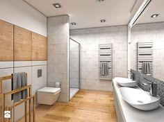 Aranżacje wnętrz - Łazienka: Średnia łazienka w bloku bez okna, styl nowoczesny - Genero. Przeglądaj, dodawaj i zapisuj najlepsze zdjęcia, pomysły i inspiracje designerskie. W bazie mamy już prawie milion fotografii!