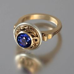 OLGA 14K gold ring with rare color change 2.38ct by WingedLion, $2480.00