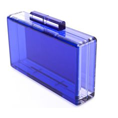 Blue Perspex clutch ($695) ❤ liked on Polyvore