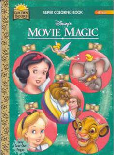 Disney Movie Magic Coloring Book, Golden Books 1995