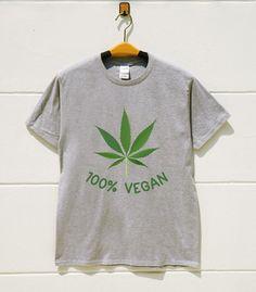 XS S M L XL  Weed Tshirts Vegan Tshirts Funny Tshirts by monopoko