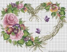 A través de Carolyn Chaniere    Points de croix *<3* Cross stitch