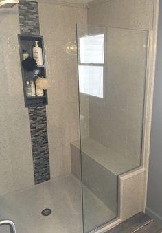 Shower Gallery Bathroom Vanity Designs, Condo Bathroom, Bathroom Plans, Downstairs Bathroom, Bathroom Renos, Bathroom Interior Design, Master Bathroom, Bathroom Ideas, Shower Ideas
