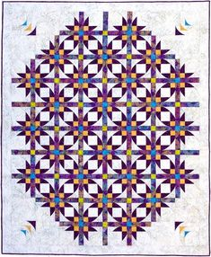 "Mexican Star Dance 65"" x 80"" #NewQuiltPattern #Southwindquilts #DimensionalCurves"