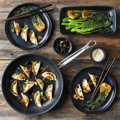 Photo shared by Hestan Culinary on April 13 2020 tagging food Korean Vegetables, Vegetable Dumplings, Chocolate Lava Cake, Inexpensive Meals, Lava Cakes, April 13, Cook At Home, Salmon Recipes, Freezer Meals