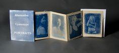 Tanisha Miller Accordion book cyanotype