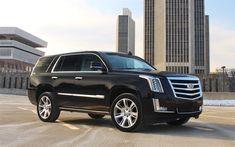 Descargar fondos de pantalla Cadillac Escalade, 2018, 4k, American SUV Escalade negro, coches de lujo, Cadillac