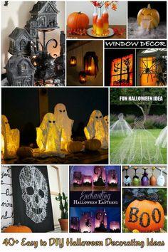 40+ Easy to DIY Halloween Decorating Ideas - http://theperfectdiy.com/40-easy-to-diy-halloween-decorating-ideas/ #DIY