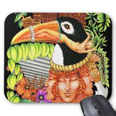 Toucan Fantasy Art Design Mousepad by Bluedarkat