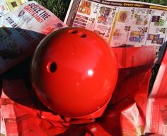 Phase 1 lady bug bowling ball project