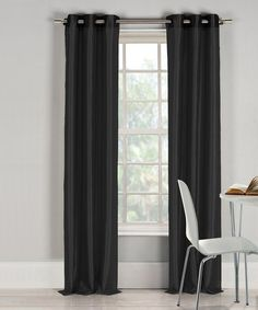 Loving this Black Bali Curtain Panel - Set of Two on #zulily! #zulilyfinds