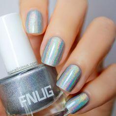 Silver holographic nail polish FNUG_2