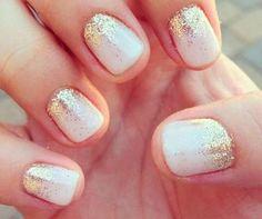 Manicura glitter para novias #belleza #bodas #novias #manicura
