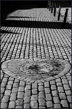 Heart of Midlothian on the Royal Mile in Edinburgh, photo by David Brown
