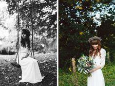 048-Hochzeitskleid Boho Vintage