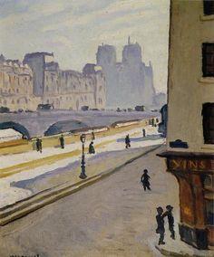"""Autour de l'impressionnisme  / Postimpressionnisme / MARQUET / Albert MARQUET """"Notre-Dame au soleil"""""""
