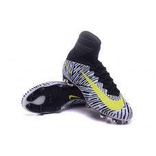 super popular d25bb 0f767 NIke Mercurial Superfly V FG Blanco-Amarillo Negro Zapatillas de fútbol  baratas Nike Football Boots