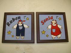 Cuadritos infantiles personalizados www.flama-artesania.com