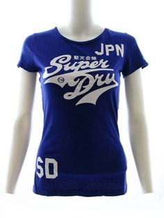 Superdry Womens Stacke Entry T-Shirt Electric Blue £24