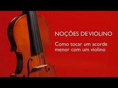 Como tocar um acorde menor com um violino : Noções de Violino - YouTube