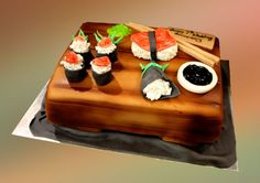 Sushi Cake - Yahoo Image Search Results Sushi Cake, Cake Servings, Desserts, Cake Ideas, Food, Image Search, Cakes, Inspiration, Food Cakes