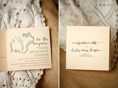 map to the reception included in the wedding program