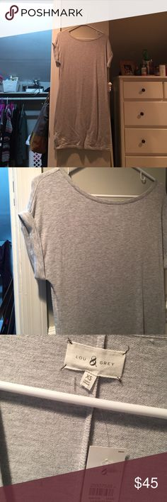 loft lou and grey tshirt dress brand new with tags. got it as a gift not my style. perfect condition. super soft material and great quality. LOFT Dresses