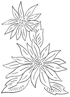Christmas flower pattern-- would be nice pattern for rock painting