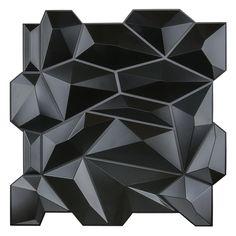 Art3d® Decorative 3D Wall Panels PVC Diamond Design Black | Etsy Pvc Wall Panels, Textured Wall Panels, Tile Covers, Diamond Wall, Silver Walls, Stick On Tiles, Headboards For Beds, Diamond Design, Interior Walls