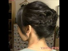 3 Minute Braided Updo for Short/Medium Length Hair. I have thick hair and hope this will work. But I like this tutorial. Fast, to the point and like the look! A bun for thick hair is more like a big rock on your head. This style keeps it light and spread out on your head but tight enough to stay in. Going to a wedding tomorrow and will try it out!