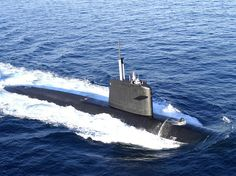 French Marine Nationale Rubis Class nuclear attack submarine FS Émeraude (S 604). Displacement 2600 tonnes. Length 73 meters.