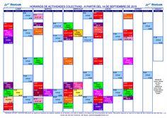 Horario de actividades colectivas, a partir del 14/Sep/2015. Más información en http://reebokmalaga.com/horarios