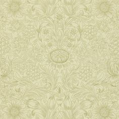 Morris & Co. Sunflower Etch   Perigold Foyer Wallpaper, Gold Wallpaper, Print Wallpaper, Fabric Wallpaper, Wallpaper Roll, Wallpaper Designs, Tapete Gold, Red Houses, Red Pigment