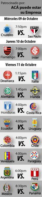 """Fútbol recomendado para esta semana: 09 al 11 de Octubre.  Esta semana es fecha FIFA de eliminatorias, lo que significa un día de muchos partidos. Además, contaremos con el """"Clásico Majestuoso"""" en Brasil, en nuestro Top 10 del fútbol recomendado por el """"Cirujano Román"""" que irá...  http://blogueabanana.com/deportes/91-futbol/1194-futbol-recomendado-09-al-11-octubre.html"""