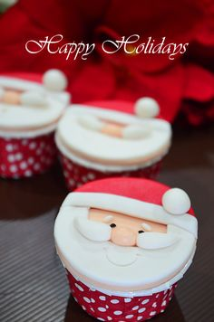 How to make Santa Cupcakes - learn the easy step-by-step for this festive and cute cupcake   rasamalaysia.com
