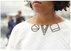 Maria Jennifer Carew  printed jewellery
