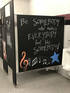 New bath room kids school student ideas School Fun, Art School, School Ideas, Bathroom Mural, Bathroom Stall, School Bathroom, School Murals, School Painting, School Quotes