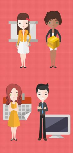 Free Flat Characters: More Than 3000 Flat Vector Characters With Over 200 Accessories