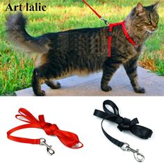 Cat Harness And Leash Hot Sale 3 Colors Nylon Products For Animals Adjustable #Artlalic