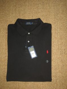 NWT RALPH LAUREN  MEN'S 4 XB BLACK  MESH POLO SHIRT  BIG & TALL 4 XB  NEW #PoloRalphLauren #PoloRugby