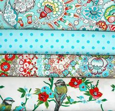 Fabric Bundle Springtime in Turquoise by Holland Fabric House, via Flickr