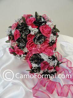 Bridal Bouquet Fushia and Mossy Oak