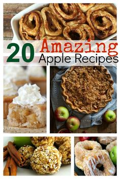 If you're headed out to do some apple picking this fall, you'll want to check out this great list of 20 Amazing Apple Recipes to help you use up all of those delicious apples!