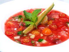 Watermelon Gazpacho — so yummy this time of year
